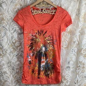 Maurices orange colorful short sleeve t shirt M